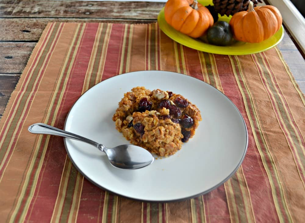 Baked Pumpkin Oatmeal: The perfect cold weather breakfast