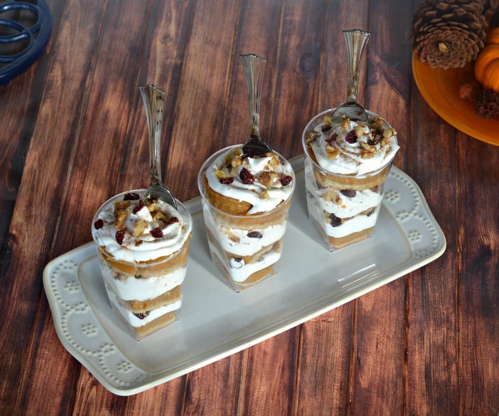 Individual Pumpkin Pie Parfaits for the holidays!
