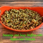 Sage and Sausage Stuffing with Apples and Walnuts