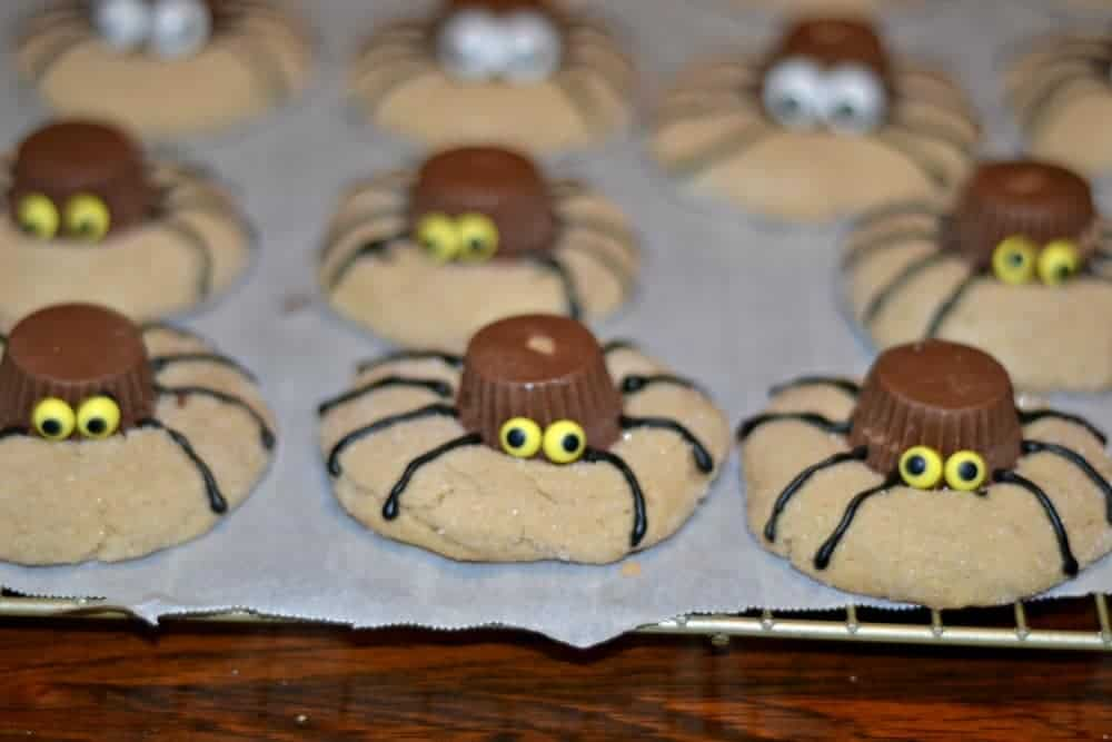 Cute and easy to make Spider Cookies