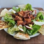 Color Splash Tofu and Quesadilla Salad: Meatless Monday