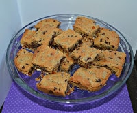 Chocolate Chip Cookie Bars with Pretzel Crust: Secret Recipe Club