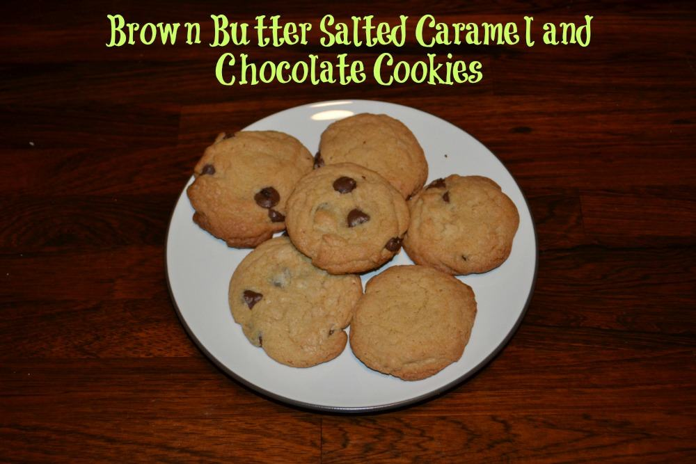 Brown Butter Salted Caramel and Chocolate Cookies using Nestle DelightFulls