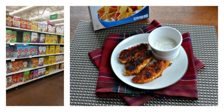 Quaker Cereals are available at Walmart! Use Quaker Life Cereal to make Buffalo Ranch Chickent Tenders