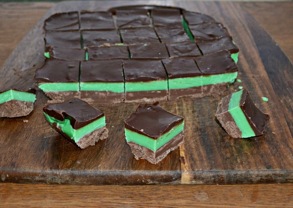 Triple Layer Chocolate Mint Fudge