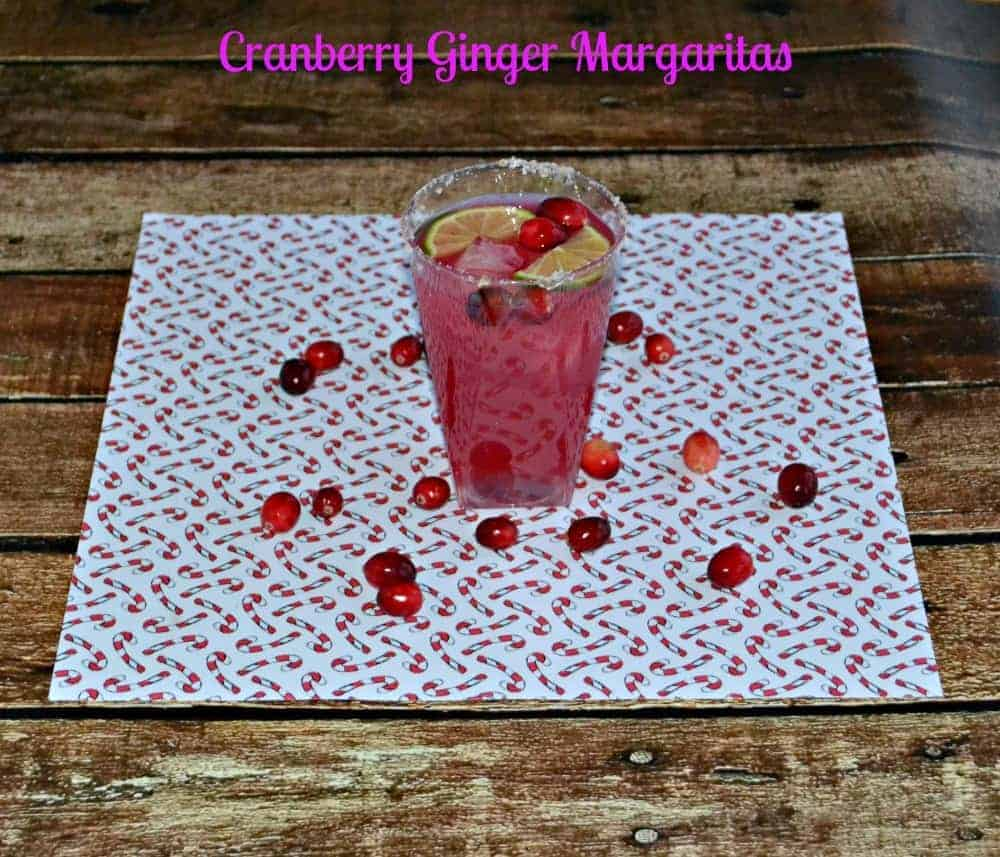 Cranberry Ginger Margaritas are fun and festive!