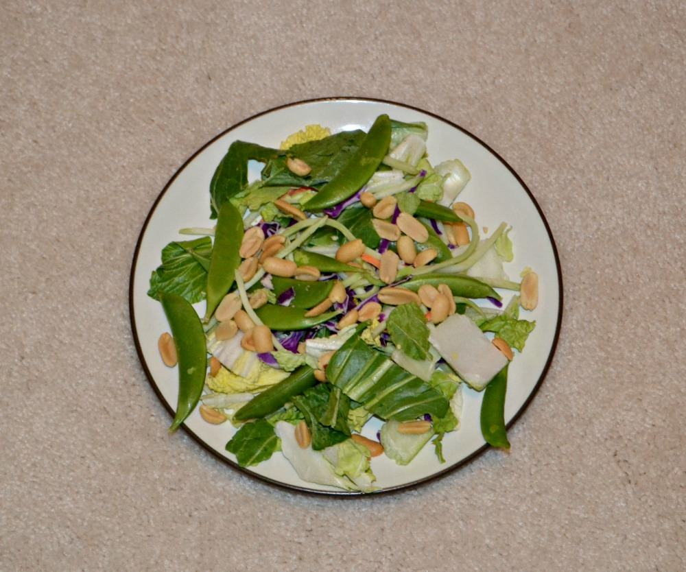 Ginger Bok Choy Salad with Sesame Ginger Dressing