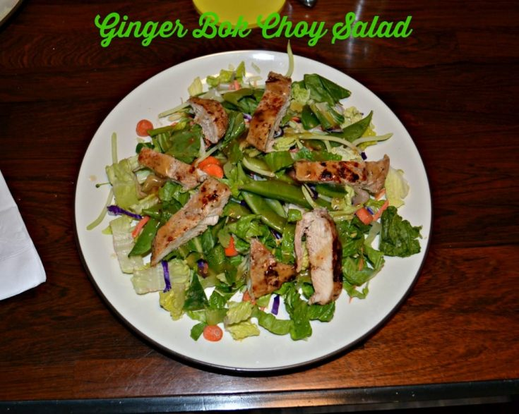 Eat Smart Ginger Bok Choy Salads with Grilled Chicken