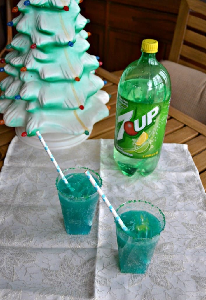 Blue Sparkler Mocktail is perfect for the holidays