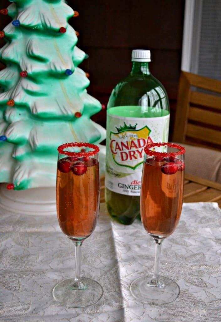 Cranberry Ginger Champagne Cocktail is a great holiday beverage