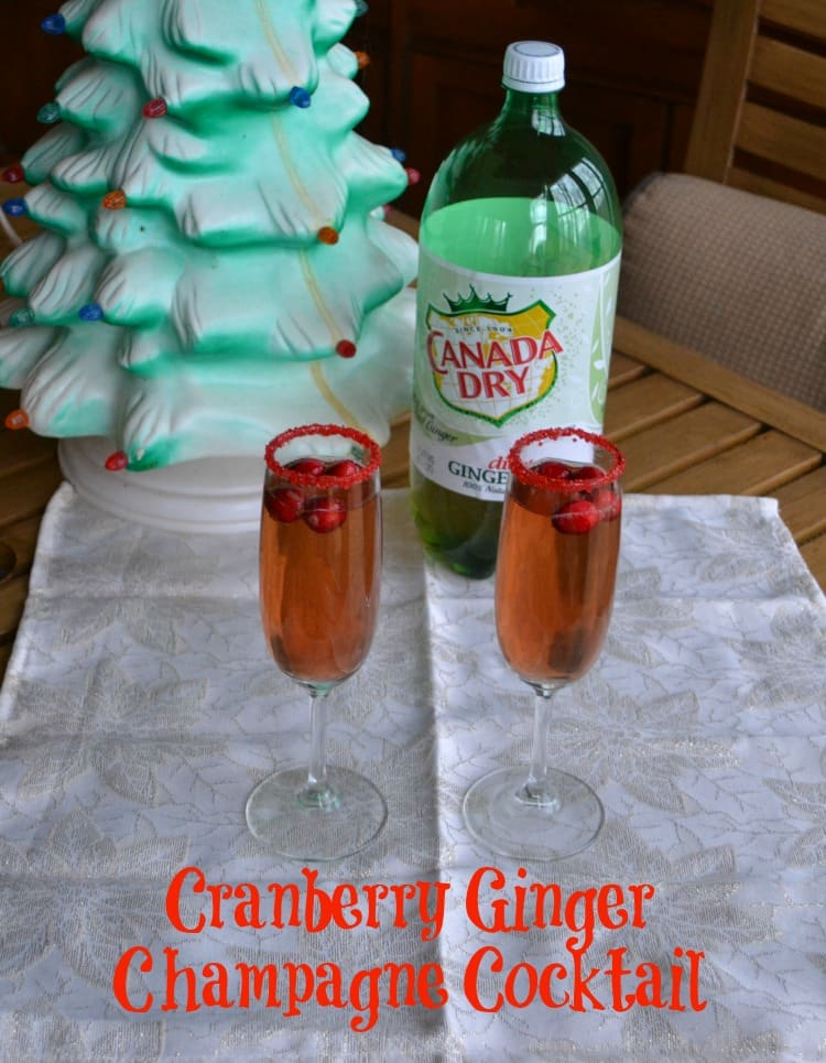 Cranberry Ginger Champagne Cocktail