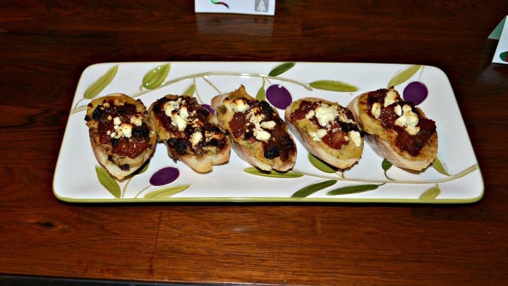 Sabra hummus Bruschetta with Feta cheese