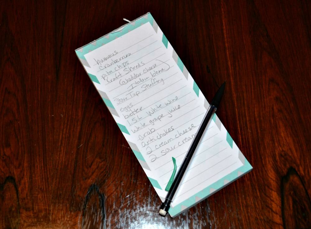 Make party planning a snap by writing your grocery list as you make your food list