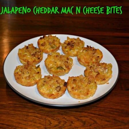 Jalapeno Cheddar Mac N Cheese Bites are spicy and delicious