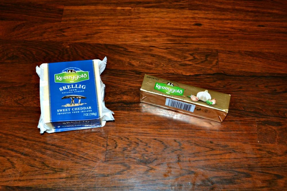 Kerrygold Garlic & Herb Butter and Skellig Sweet Cheddar Cheese