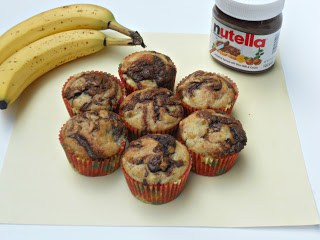 Banana Nutella Muffins are a delicious blend of bananas and chocolate.