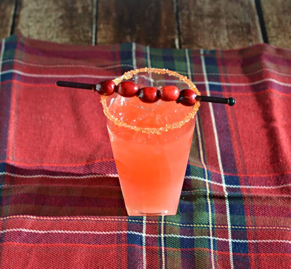 Fun Pear and Cranberry Orange Cocktail