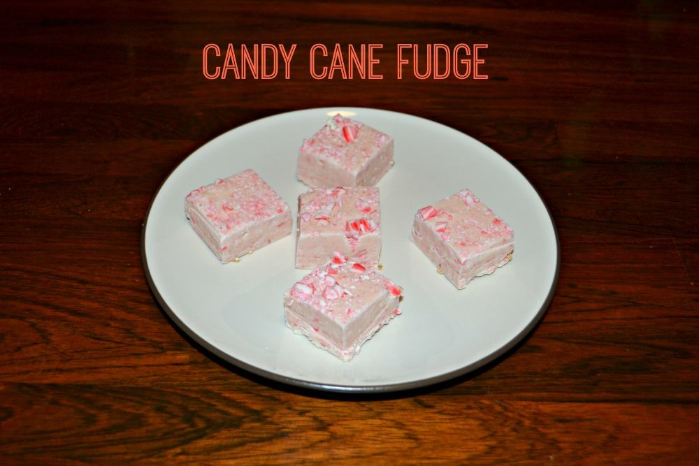 Candy Cane Fudge only takes 5 minutes and uses a handful of ingredients