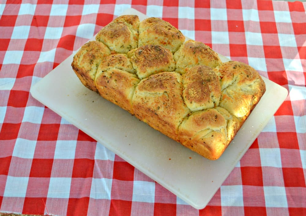 A fabulous Garlic Bubble Bread Pull Apart Bread