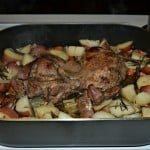 Braised Leg of Lamb with Potatoes and Vegetables