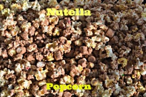 Nutella Marshmallow Popcorn with M &M's