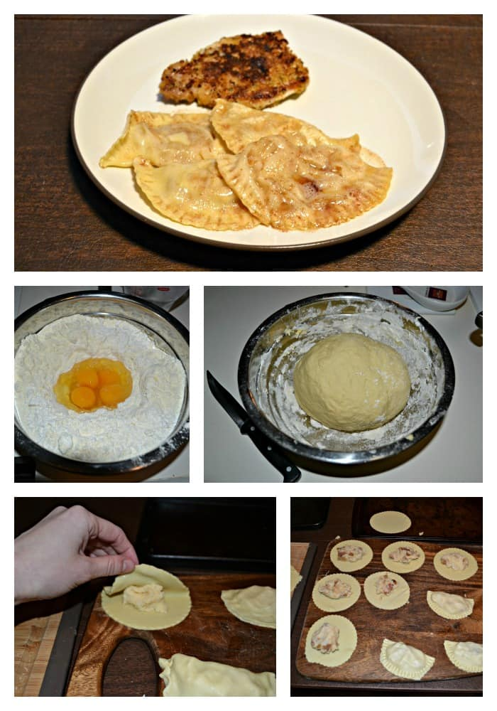 Pierogies made with homemade dough and stuffed with two different fillings.