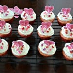 Delicious Pink Velvet Cupcakes are a light and fluffy cupcake topped with buttercream frosting.