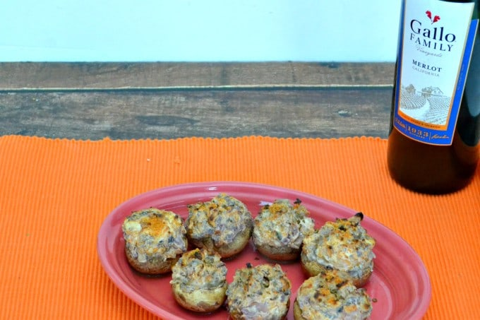 Spicy Stuffed Mushrooms make a great Game Day Appetizer