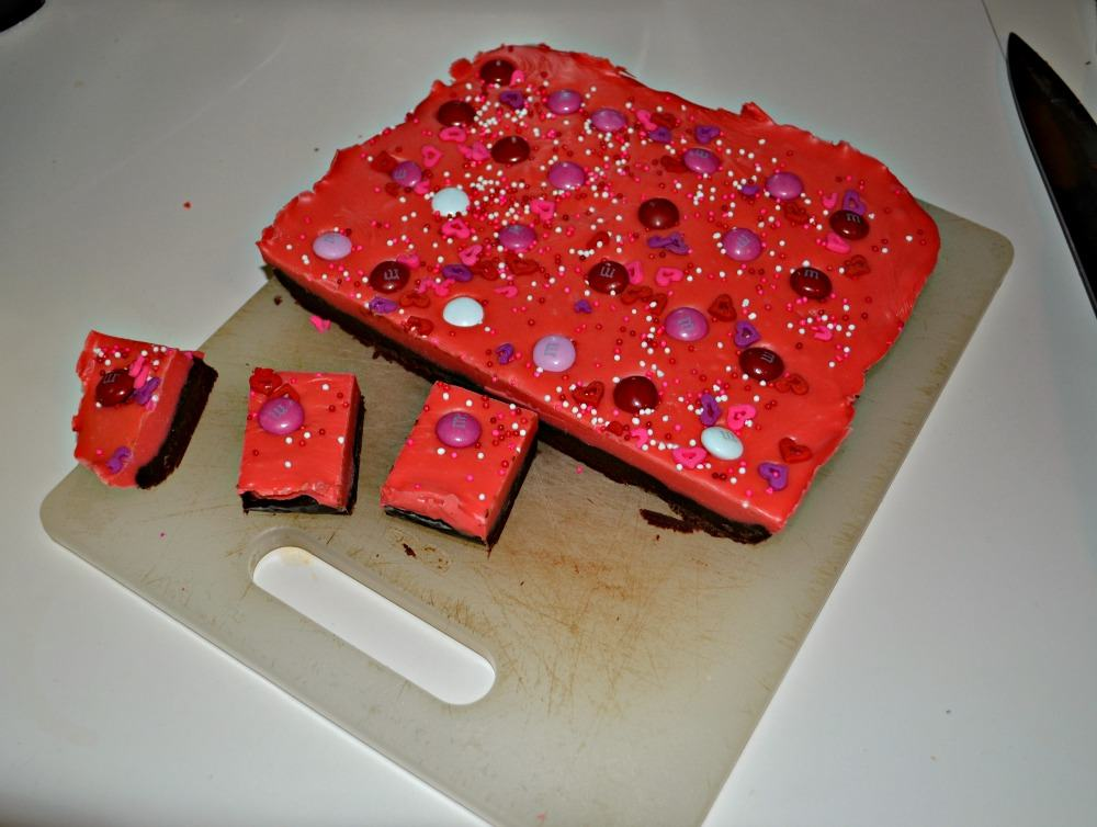 Fun and tasty Double Layer Valentine's Day Fudge