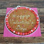 Chocolate Chip Cookie Cake for Valentine's Day