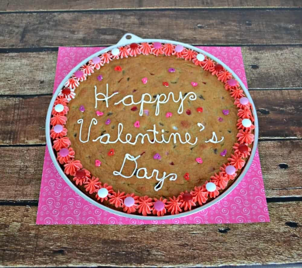 Chocolate Chip Cookie Cake For Valentines Day