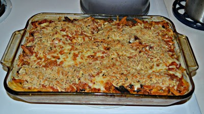 Baked Penne Pasta with Eggplant and FOntina Cheese