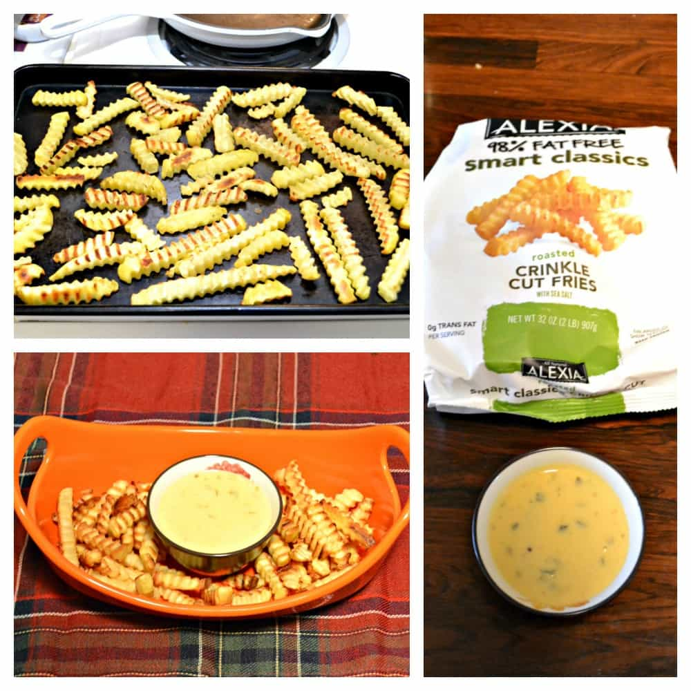 Alexia Crinkle Cut Fries with Jalapeno Cheddar Dip