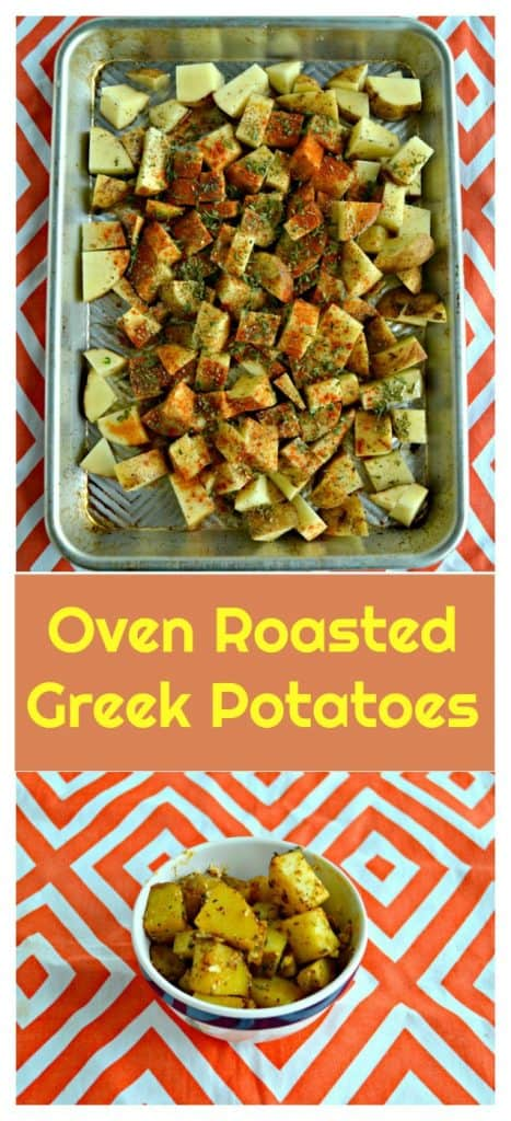 Pin image- Greek Potatoes with text overly