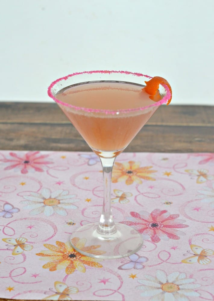 Hibiscus Cosmo is a colorful and flavorul cocktail