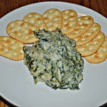 Hot Spinach Parmesan Dip #SundaySupper
