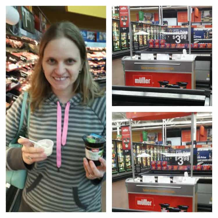 Enjoying the Muller Ice Cream Inspired Yogurt!