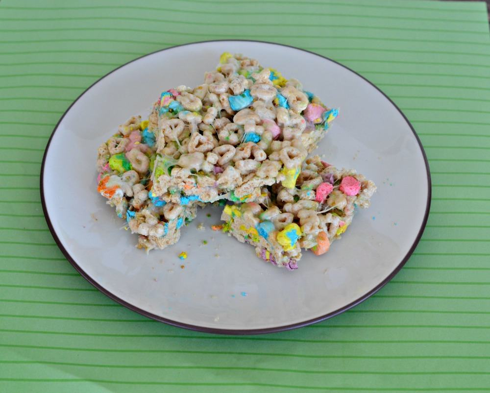Lucky Charms Treats are great for kids!   Plus, they can help make them!
