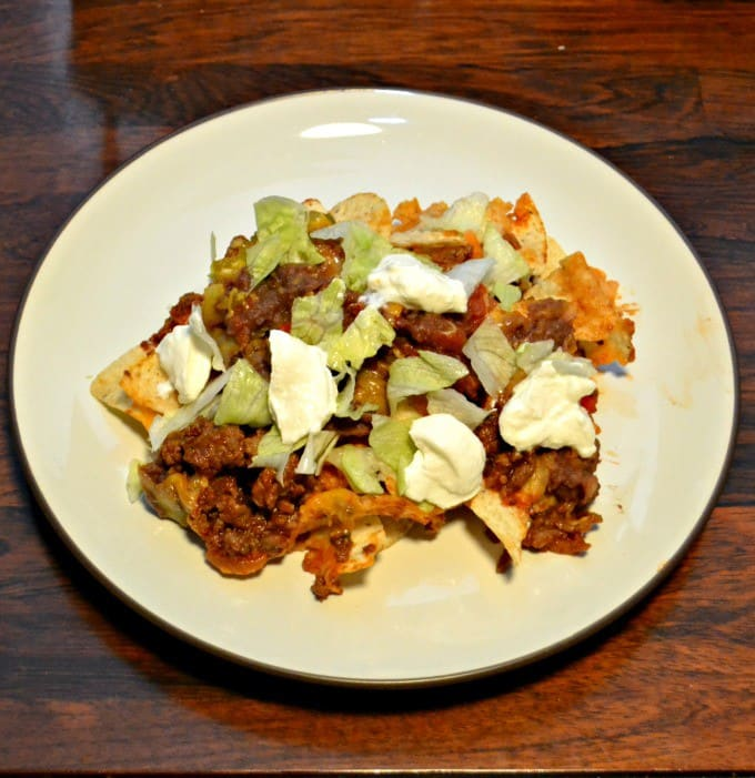 Delicious Manwich Nachos take only minutes to put together.