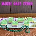 Tri-Colored Mardi Gras Fudge