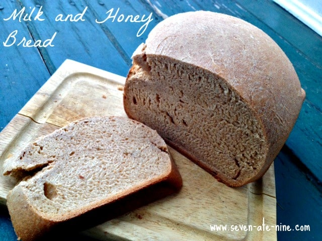 Whole Wheat Milk and Honey Bread