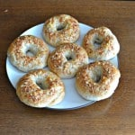 Parmesan Garlic Bagels for #BreadBakers