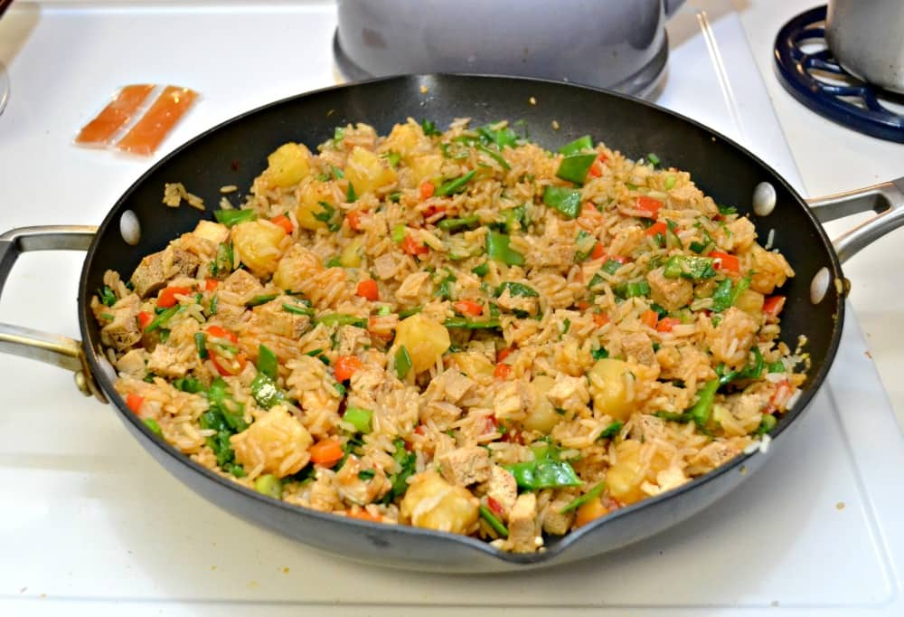 Pineapple Fried Rice with Tofu is colorful, beautiful, and totally delicious!