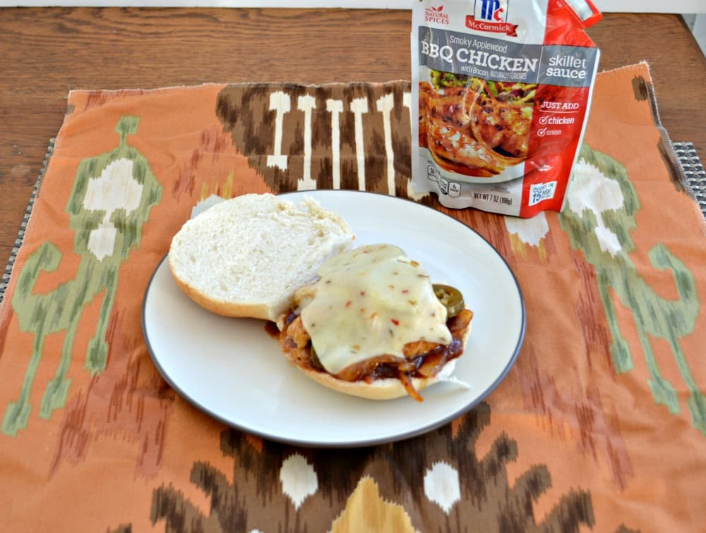 Spicy BBQ Chicken Sandwich made easy with McCormick Skillet Sauces