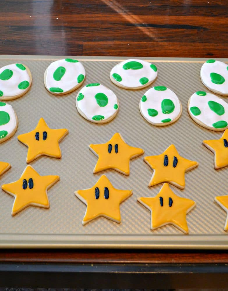 Mario Cookies: Stars and Dinosaur Eggs