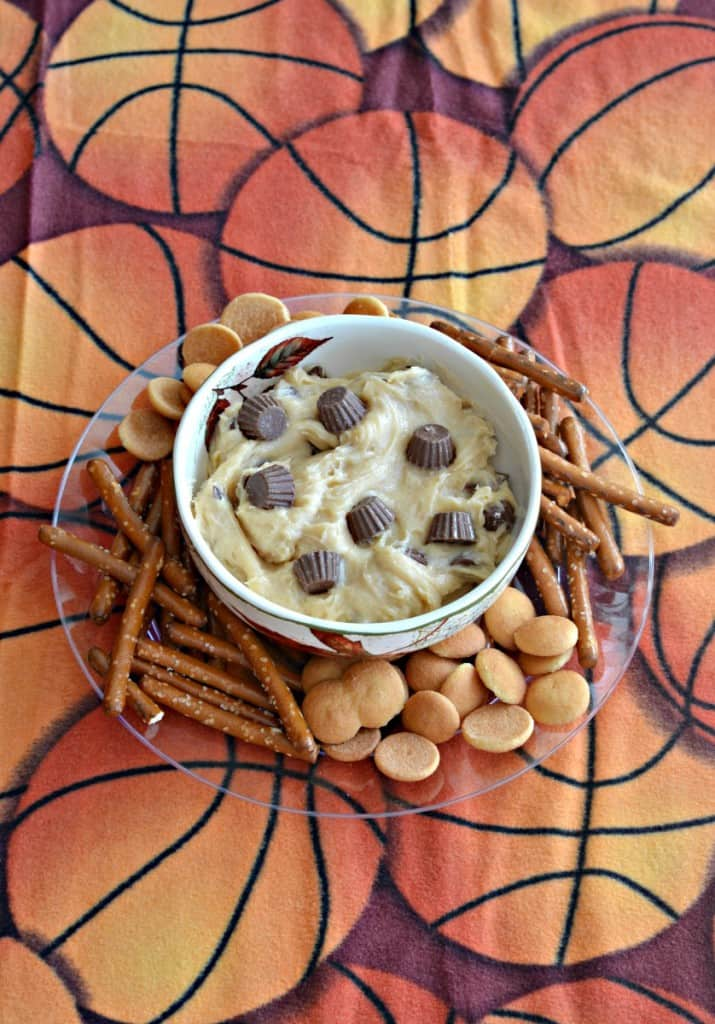 Delicious and easy to make Reese Peanut Butter Cup Dip has just 5 ingredients!