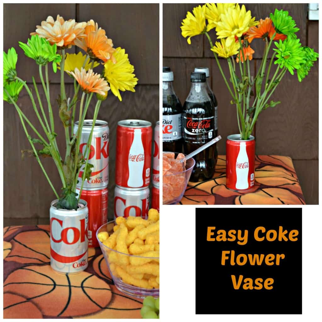 Fun Coke Can Flower Vases add some flare to any party
