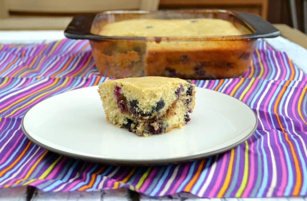 Tender and delicious Blueberry Hazelnut Coffee Cake