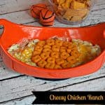 Cheesy Chicken Ranch Dip with Cheez-It crackers