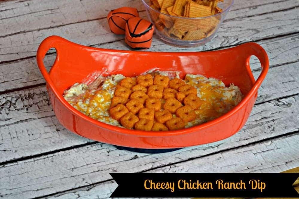 Cheesy Chicken Ranch Dip with Cheez-It Crunch'd
